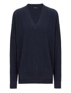 Soft Wool Oversize V Neck Sweater alternative image