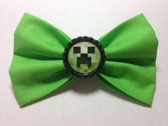 Minecraft Creeper Bow by SamiBowtique on Etsy, $6.25