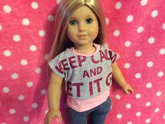 Up-Cycled Two Piece Shirt for American Girl Dolls or any 18 inch doll by ItIsSewYou on Etsy