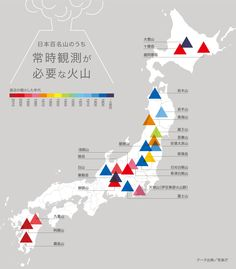日本百名山のうち、常時観測が必要な火山