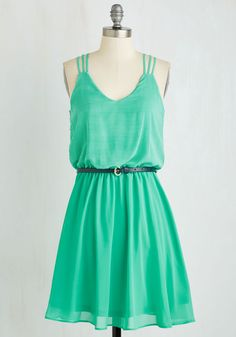 Spearmint Mojito Dress. Add a sprig of refreshing style to your repertoire with this pretty light green dress! #green #modcloth
