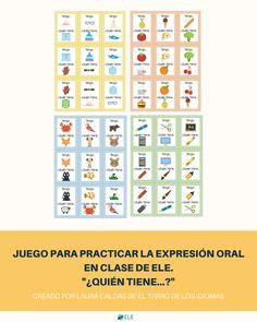 NUEVO POST  ¡Esta semana @Tarrodeidiomas  nos ha dejado este juego de ¿quién tiene…?!   http://www.eleinternacional.com/juego-para-practicar-la-expresion-oral/