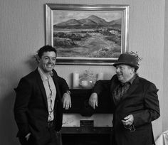 Van Morrison and Rory McIlroy Irish Singers, Rory Mcilroy, Northern Irish, Van Morrison, Pop Hits, Brown Eyed Girls, Record Producer, The Man, Poet