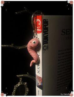 $15 Fimo Bookmarks Bookworm