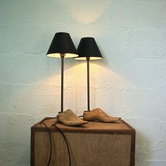 Tappers vintage shoe last lamps, by Reworked. Disarmingly quirky.