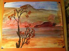 Rustic Autumn- watercolor