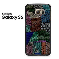 Avenged Sevenfold Lyrics Quotes Samsung Galaxy S6 Case