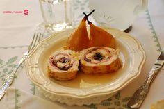 Cuchillito y Tenedor: Pollo relleno con peras asadas.