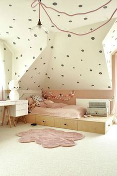 large polka dots all over the room