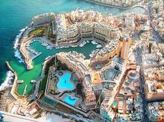St Julians view from the sky, Malta Island