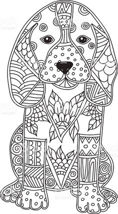 Dog Adult antistress or children coloring page. Dog adult antistress or children coloring page. Lizenzfreies dog adult antistress or children coloring page stock vektor art und mehr bilder von abstrakt Dog Coloring Page, Printable Adult Coloring Pages, Animal Coloring Pages, Coloring Pages To Print, Coloring Book Pages, Coloring Pages For Kids, Colouring For Adults, Doodle Coloring, Tier Doodles