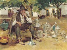 José Malhoa - o latoeiro Portugal, John William Waterhouse, Norman Rockwell, Gustav Klimt, My Heritage, Fractals, Watercolor Art, Oil On Canvas, Art Gallery