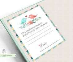 Back to school  Printable Bookplates  Book Plates  by MokileArt