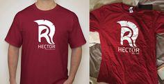 Prototype du tee-shirt Hector et produit fini... Pas mal non ?