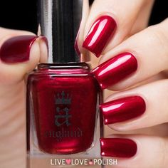 A-England: ⭐ Perceval ⭐ ... a shimmering deep ruby RED nail polish (from The Mythicals Collection)