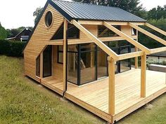 Organic Gardening Supplies Needed For Newbies Architecte : Patrick Ballester Maisons Ossature Bois Daction 2000 - France 30 House In The Woods, My House, Casas Containers, Tiny House Design, Cabin Design, Future House, Building A House, Building Plans, Architecture Design
