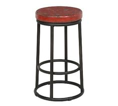 This round bar stool is designed to fit easily anywhere it's needed. It boasts a reclaimed pine wood top and circular metal base in black. A built-in footrest makes this bar stool extra comfortable. 24 Counter Stools, 24 Bar Stools, Swivel Bar Stools, Bar Counter, Kendall, Designer Bar Stools, Classic House, Foot Rest, Black Metal