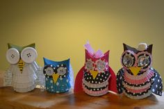 Pocket Full of Posies: Owls from TP rolls