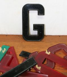 Vintage Plastic Diner Sign Letters by AuroraMills on Etsy, $6.00