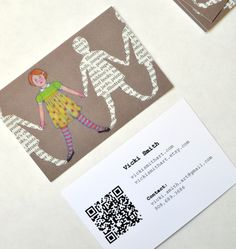 Illustrator Vicki Smith created a whimsical business card to promote her Etsy shop.