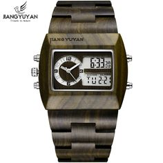 US $299.90 - Natural Sandalwood Watch Men Luxury Brand Antique Wood Watches Date Quartz Analog Digital LED Wristwatch Gift His reloje Relogio