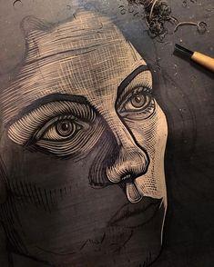 https://www.instagram.com/p/BPMHzhTBs8U/?taken-by=goners Lino Art, Linoleum Block Printing, Scratchboard, Etching Prints, Wood Engraving, Linocut Prints, Stencil Painting, Woodblock Print, Wood Block Crafts