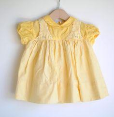 Vintage 1950's Baby Girl Dress