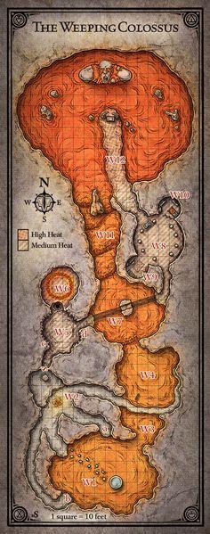 D&D Cavern Map