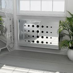 Custom Made Radiator Covers - Couture Cases Product Range - Modern radiator covers, window shutters and decorative laser cut panels Mirror Radiator Cover, Modern Radiator Cover, Decor Interior Design, Interior Decorating, Interior Ideas, Home Radiators, Laser Cut Panels, Diy Home Accessories, Modern Console Tables