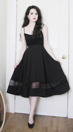 Organza Panel  Midi Skirt in Black