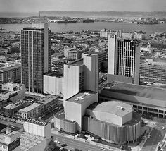 D/T SD circa 1965.  Looking west to the bay, North Island & Point Loma in the far back.