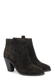 76a77a2c4715b4 ASH Veloursleder-Ankle-Boots Black bei myClassico