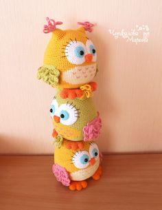 Speelgoed haak patroon 'Kleurrijke owl' PDF door Kumutushkatoys