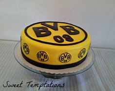 Birthday cake for a big Borussia Dortmund fan, it`s a german soccer league team!!!