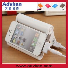 Power bank and stand in one!  two USB port 8800mah
