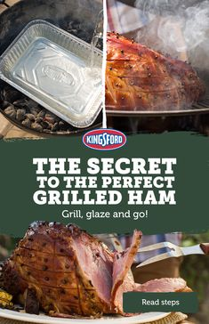 Use Kingsford's Original Charcoal for the perfect Holiday ham recipe. Tap the Pin to learn how easy it is to cook, score, glaze and serve! Ham Recipes, Grilling Recipes, Dinner Recipes, Cooking Recipes, Smoker Recipes, Wing Recipes, Easter Recipes, Recipies, Holiday Ham