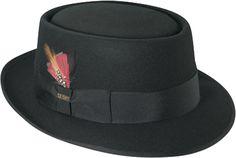 Men's Vintage Style Hats Mens Porkpie Scala Hat $53.95 AT vintagedancer.com