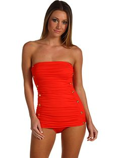 Juicy Couture - Miss Divine Bandeau Swimdress... Pretty rare to see a one-piece that I like!