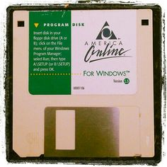 """Found """"My first internet app"""" while visiting my parents house. Brought back some great AOL Chat memories! lol"""