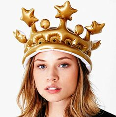 1Pcs Inflatable Crown Queen For The Day Toy Novelty Party Favour Night Present