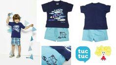 Conjunto de bermuda y camiseta de tuc tuc en www.latitaloca.com  Envios gratis  http://latitaloca.com/es/camisetas-y-shorts-nino/1244-camiseta-bermuda-punto-peces-tuc-tuc.html