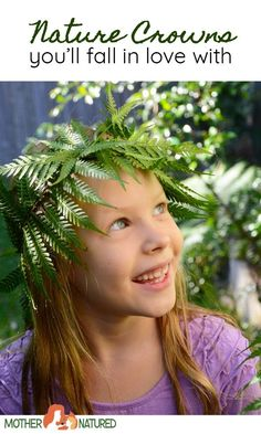 Delightful Nature Crowns for Kids Animal Crafts For Kids, Easy Crafts For Kids, Summer Crafts, Diy For Kids, Camping Activities For Kids, Nature Activities, Outdoor Activities, Crown For Kids, All Nature