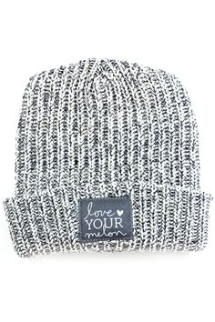 Navy Speckled Cuffed Hat - Love Your Melon  8c6707f2412