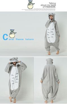 Animal Costume Totoro Adult Onesie Kigurumi Pajamas