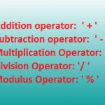 What are the Various Arithmetic Operators used in C++ ?