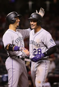 Carlos Gonzalez, Nolan Arenado, COL//Opening Day at ARI, April 4, 2016