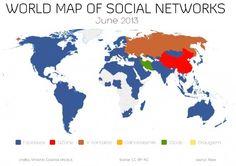 Sólo 10 países se escapan de la hegemonía de Facebook. #socialmedia #redessociales #facebook