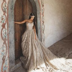 """Unique boho/country wedding dress """"Lovia"""" with a corset, luxury lace and beautiful train.Luxury collection from Rara Avis designer. Pink Wedding Dresses, Luxury Wedding Dress, Country Wedding Dresses, Boho Wedding Dress, Wedding Attire, Bridal Dresses, Wedding Gowns, Wedding Ring, Taupe Wedding"""