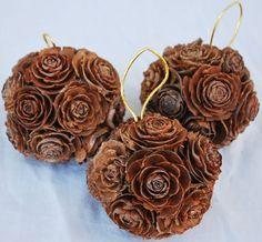 Mini Pine Cone Rose Balls - 2-3 inches each