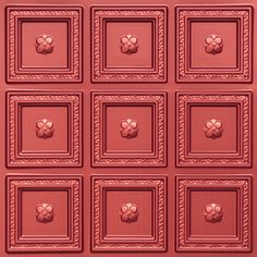 "Decorative Ceiling Tiles, Inc. Store - Dogwood - Faux Tin Ceiling Tile - Glue up - 24""x24"" -"